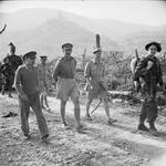 Oliver Leese and other British officers at Cassino, Italy, May-Jun 1944