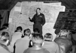 British Air Marshal Trafford Leigh-Mallory at a squadron briefing in France, Sep 1944