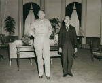 Douglas MacArthur with Emperor Showa, Tokyo, Japan, 27 Sep 1945, photo 1 of 2