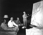 US President Roosevelt in conference with MacArthur, Leahy, and Nimitz, at the Queen's Surf Residence, Honolulu, Oahu, US Territory of Hawaii, 28 Jul 1944, photo 1 of 3