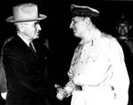 President Truman and General MacArthur at Wake Island, 15 Oct 1950
