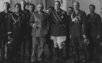 Douglas MacArthur with Józef Piłsudski and other Polish officers, Warsaw, Poland, 1932