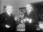 Carl Mannerheim and new Finnish President Juho Paasikivi, 11 Mar 1946, photo 2 of 2