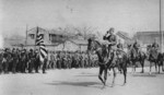Japanese General Iwane Matsui marching into Nanjing, China, 17 Dec 1937, photo 1 of 3