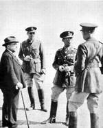 Metaxas, King George II, Prince Paul, and Papagos, Nov 1940