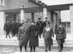 German General Alfred Jodl, Italian Count Galeazzo Ciano, and German General Erhard Milch at a German air force training academy, Berlin, Germany, 1936