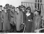 German officials Milch, Nagel, Ing, and Christiansen in Zeesen, Germany, 1937