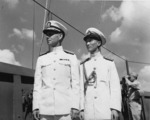 Milton Miles with a Chinese Navy officer, China, date unknown