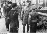 Walter Model speaking with a Hitler Youth soldier, Germany, Oct 1944