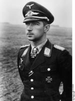 Portrait of Werner Mölders, Jun-Jul 1941; note Knight