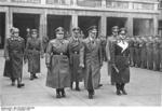 Martin Bormann, Julius Schaub, Adolf Hitler, Karl Brandt, and Erhard Milch at the funeral service of Werner Mölders at the Reich Air Ministry, Berlin, Germany, 28 Nov 1941