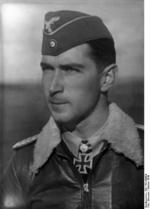 Portrait of Major Werner Mölders, Oct 1940; note Knight