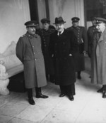 Joseph Stalin and Vyacheslav Molotov at Yalta, Russia (now Ukraine), Jan-Feb 1945