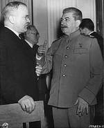 Molotov and Stalin at Yalta, Russia (now Ukraine), Feb 1945