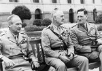 Montgomery with Viceroy Wavell and Field Marshal Auchinleck at Viceregal Gardens, New Delhi, India, 17 Jun 1946
