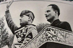 Benito Mussolini and Oswald Mosley, Italy, 1936