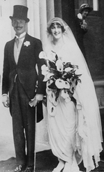 Newlyweds Oswald and Cynthia Mosley, 11 May 1920