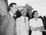 Viceroy of India Louis Mountbatten, Mohammed Ali Jinnah, and Lady Edwina Mountbatten, India, 1947