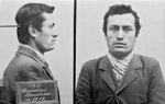 Swiss police mugshot of Benito Mussolini, 19 Jun 1903