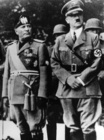 Benito Mussolini and Adolf Hitler, Germany, 1937