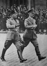 Benito Mussolini and Adolf Hitler, Berlin, Germany, Sep 1937