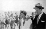 Benito Mussolini and his daughter Edda at Cattolica, Italy, 1925