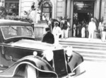 Benito Mussolini at the Grand Hotel Riccione, Riccione, Italy, 1935