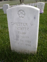 Grave of Chester Nimitz, Golden Gate National Cemetery in San Bruno, California, United States, 29 Mar 2008