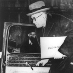 Ambassador Kichisaburo Nomura arriving at the White House with his credentials, Washington DC, United States, 14 Feb 1941