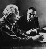 Albert Einstein and Robert Oppenheimer, circa 1947-1950
