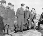 Air Vice Marshal Keith Park with British airmen, Malta, 1942-1943