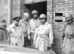 US Army generals Marshall, McBride, Eddy, and Patton at US 80th Division headquarters at Dieulouard, France, early 1945