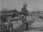 Patton preparing to depart from the Ohrdruf Concentration Camp in Thuringia, Germany, 12 Apr 1945