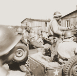 Patton arriving at the Ohrdruf Concentration Camp in Thuringia, Germany, 12 Apr 1945