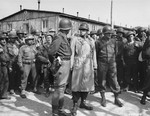 Patton and Bradley at the Ohrdruf Concentration Camp in Thuringia, Germany, 12 Apr 1945