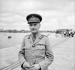 General Sir Henry Pownall at Singapore as Commander-in-Chief of the British Far East forces, Dec 1941