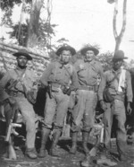 US Marines Lewis Puller and William Lee with Nicaraguan National Guard Detachment members Carlos Gutierrez and Carmen Torrez, Nicaragua, circa 1931