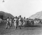Lewis Puller leading Company M in a parade, Nicaragua, Sep 1932