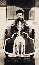 Xuantong Emperor as the ruler of the briefly-restored Qing Dynasty, Beiping, China, 1-12 Jul 1917