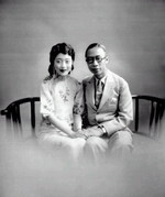 Puyi and his wife Wan Rong in Tianjin, China, mid- to late-1920s