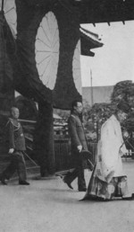 Emperor Kangde of the puppet state of Manchukuo at Yasukuni Shrine, Tokyo, Japan, 1935