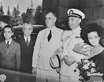 President Manuel Quezon (with family) and President Franklin Roosevelt (with Captain John McCrea), Washington DC, United States, 13 May 1942