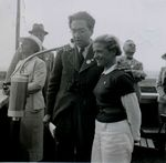 Hanna Reitsch with Technical Director of Fieseler Erich Bachem during an air show in Kassel-Waldau, Germany, 17 Jul 1938