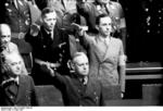 Joachim von Ribbentrop and Joseph Goebbels at a Reichstag session, Kroll Opera House, Berlin, Germany, 4 May 1941