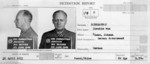 Detention report with mugshots of Joachim von Ribbentrop, Jun 1945