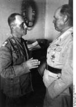 Erwin Rommel and Albert Kesselring in conversation, North Africa, 1942, photo 1 of 2