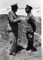 Erwin Rommel and Albert Kesselring in conversation, North Africa, 1942, photo 2 of 2
