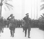 Rommel arriving at Tripoli, Libya, 12 Feb 1941