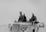 Erwin Rommel with the German 15th Panzer Division in Libya, 24 Nov 1941; note Hanomag Kfz. 15 and SdKfz. 221/222 vehicles