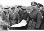 Field Marshal Erwin Rommel, Vice Admiral Friedrich Oskar Ruge, and General Hans von Obstfelder at Hendaye, France, 9 Feb 1944